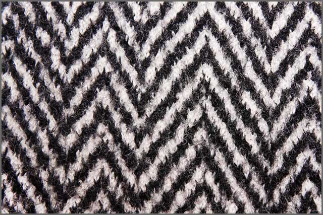 black and white wool