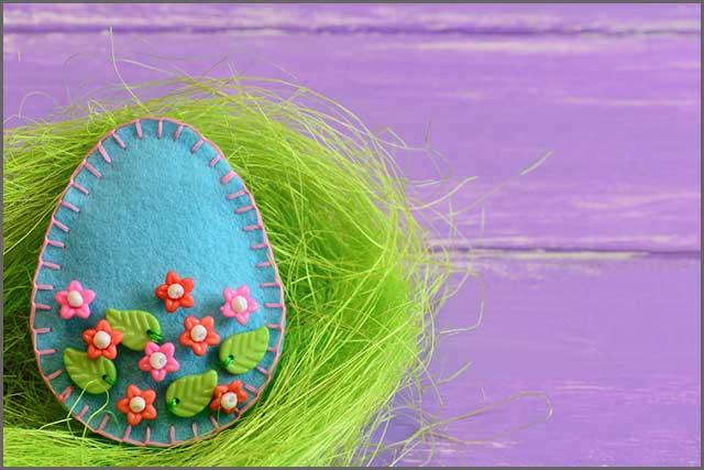 Felt Easter Egg stylish ornament