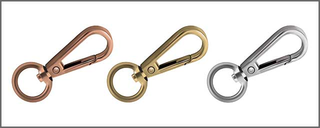 Metal snap hooks you can add for your bag
