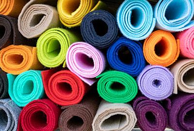 Colored felt rolls