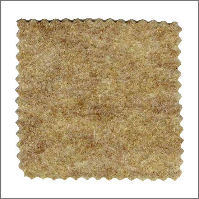 An isolated felt fabric sample